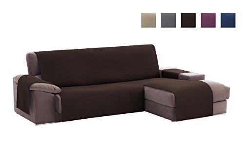 Textil-home Adele Chaiselongue Sofabezug, Beschützer für Rechtsarm Gesteppte Sofas. Größe -200cm. Farbe Braun (Vorderansicht)