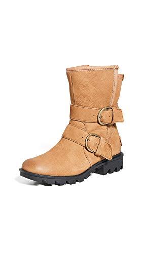 Sorel Women's Phoenix Moto Boots, Camel Brown, 8 Medium US