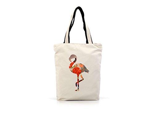 LED Universum Shopper Damen Henkeltasche - Hot Flamingo - Lange Henkel Schultertasche - Top-Handle Bag - für Picknick Strand Canvas - hochwertig und modisch schick