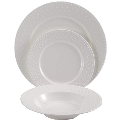 Pierre Cardin New Bone China Chérie Set 18pc Vajilla, Porcelana