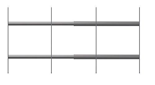 acerto 40516 Rejilla de protección antirrobo para exteriores para reequipamiento* Diseño moderno* Extensible* Made in Germany | Rejillas para ventanas de acero inoxidable para sótanos | Protección
