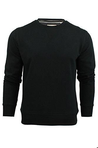Brave Soul Sweat-shirt col V pour homme - Noir - X-Large