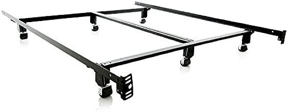 MALOUF Super Duty Steel Wedge Lock Metal Bed Frame - Twin
