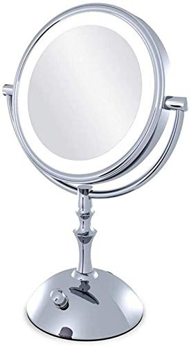 aipipl Bathroom Vanity Mirrors Dressing Mirror,Magnifying Glass With Light, Illuminated Mirror 10 Times Magnifying Glass, Lighted Mirror, Double-sided 360 Rotation,makeup Mirror Lights Grooming Mir
