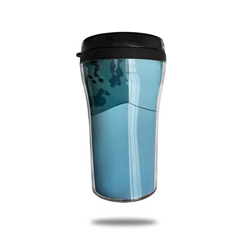 Taza de café de viaje con impresión 3D, taza de té aislada, taza de agua, taza de viaje para hombres, mujeres y niños, océano animal subacuático