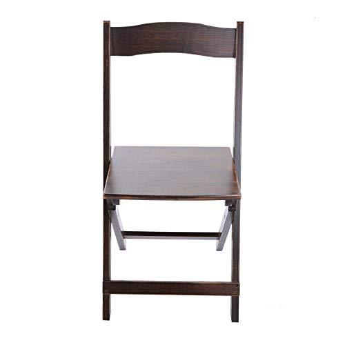 15,7 * 15,4 * 31,5 In klappbarer Rückenlehne Umweltfreundlicher und robuster Bambusstuhl, Küchenstuhl, für den Hausgarten