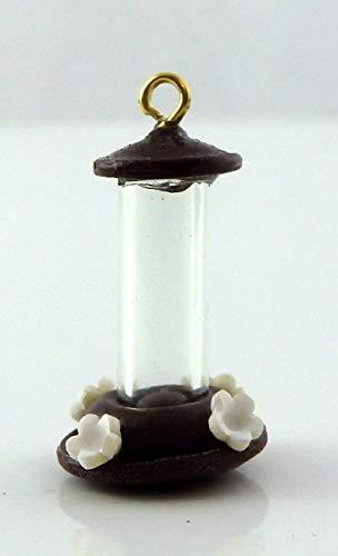 Melody Jane Poupées Colibri Oiseau Mangeoire Miniature 1:12 Échelle Animal Jardin Accessoire Marron