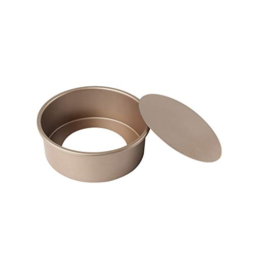 LuohuiFang Round Cake Mould Chiffon Cake Baking Pan Pudding Cheesecake 6/8/10 inch Mold with Removable Bottom