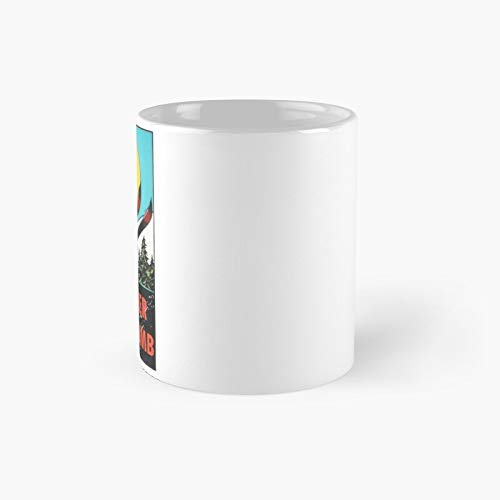 Whistler Blackcomb Vintage Ski Decal Classic Mug | Best Gift Funny Coffee Mugs 11 Oz