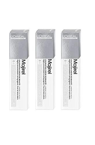 3x Loreal Majirel 7,0 Mittelblond Intensiv Haarfarbe - 50ml