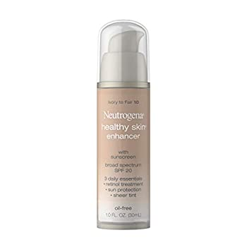 Neutrogena Healthy Skin Enhancer Sheer Face Tint with Retinol & Broad Spectrum SPF 20 Sunscreen for Younger Looking Skin 3-in-1 Daily Enhancer Non-Comedogenic Ivory to Fair 10 1 fl oz