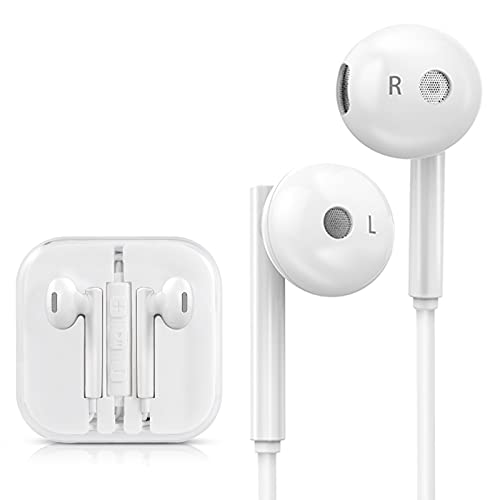 4 Pack Earphones with Microphone Volume Control, Wired Earbuds...