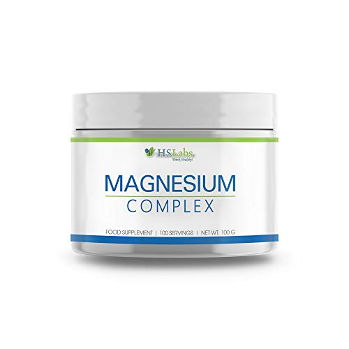 HSLabs Magnesium 250 mg Citrate Carbonate Lactate Complex Powder 100g 100 Servings Essential Mineral Restores Muscle Relaxation Nervous System Support Metabolic Energy Increase Promotes Bone Formation