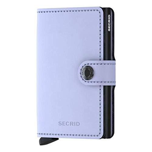Secrid Matte Miniwallet Börse mit RFID Schutz 6.5 cm Lilac-Black