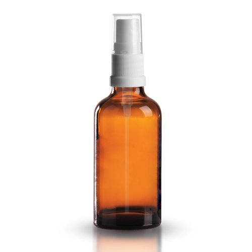 Preisvergleich Produktbild 10 x Braunglasflasche 100ml / Sprühflasche inkl. Pumpzerstäuber / Sprühkopf DIN 18 mit Schutzkappe