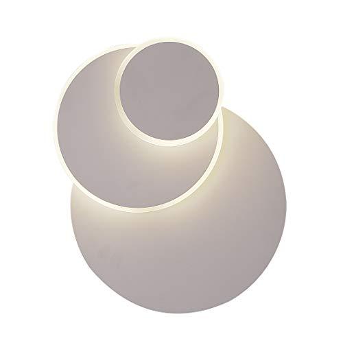 Applique Luna eclissi 3 in 1 lampada da parete solida moderna luce da muro semplice soggiorno corridoio balcone cromato camera da letto letto testa applique 3 marce luce freddo/bianco/caldo