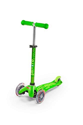 Micro Mobility - Trottinette Mini Deluxe Vert - Trottinette Enfant au Design Original - Apprentissage de l'équilibre en Douceur - De 2 à 5 Ans - Vert