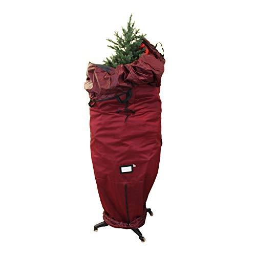 612 Vermont Heavy-Duty Upright Christmas Tree Storage Bag for Artificial Trees up to 9 Foot Tall, Durable Woven Polyester Fabric, Stand Not Included