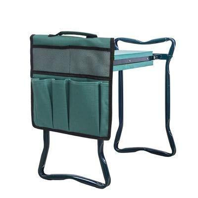Jardín con asas y práctica bolsa de herramientas, bancos de jardín multiusos con bolsa de herramientas y almohadilla para rodillas que protege tus rodillas