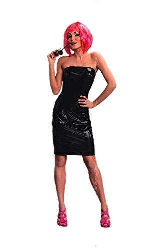 1001-kleine-Sachen Wetlook-Kleid Xenia mit Schnürung inkl. String - Negligee Bandaukleid von MeSeduce Dessous (S/M (32-36))