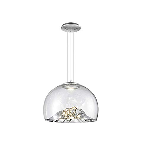 KFDQ Household Chandeliers,Mid Century Led Hanging Light Fixture,Home Hallway Pendant Lighting Glass Shade Ceiling Lamp Creative Decor Nordic Handblown Ceiling Light/Lamp Chandelier Jinshan 40Cm(16In