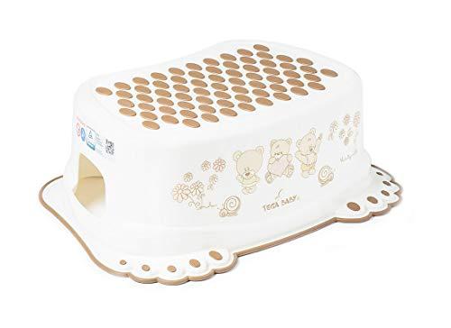 Tega Baby ® Marchepied pour enfant Toilettes formation enfants Potty antidérapant de sécurité bébé   Marche pieds   à partir de 3 ans environ   Unisexe Pour enfant, Motif:Ours en peluche - blanc