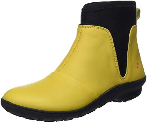 Botines amarillos y negros para mujer