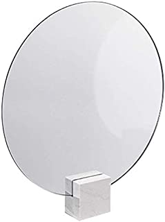 Mirror White Vanity Mirror with Stand Double-Sided HD Independent Portable Mirror Desktop Large/Modern Beauty Desktop Makeup Mirror Makeup Mirror (Size : F) (Color : C) (Color : B)