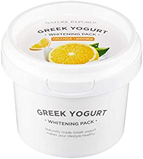 Overnight Moisturizing Sleep Mask Sheet - Nature Republic Greek Yogurt Pack Orange 130 ml / 4.39 fl. oz.