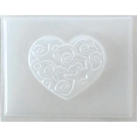 MTD Products - Mini stampo, a forma di cuore con motivo arabesco