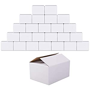 GIOOU Shipping Boxes 6x4x4 inches Small sized Cardboard Box White 25 Pcs