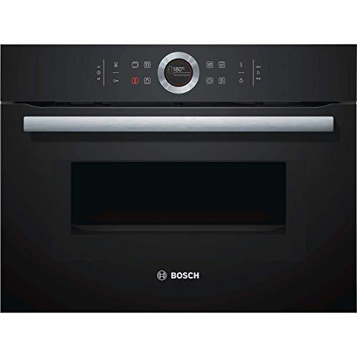 Bosch CMG633BB1B Serie 8 - Horno de microondas combinado, color negro