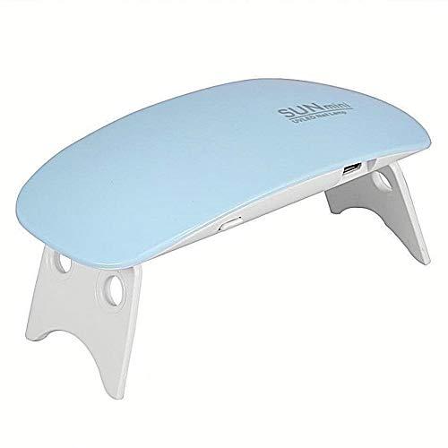 Sèche Ongles UV LED,Sèche Ongles Vernis Ordinaire Mini Lampe pour Ongles Gel Semi-Permanent Seche Ongles Professionnel Nail Art Manicure (Bleu)