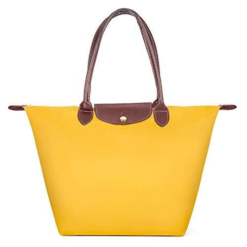 Meersee Shopper Tasche Groß, Wasserdichtes Nylon Shopper Schultertasche Umhängetasche Damen Handtasche Tote Tasche