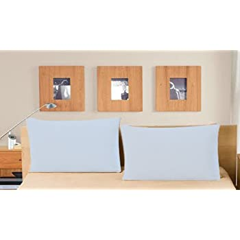 "Linenwalas Waterproof and Dustproof Pillow Protectors Set of 2 Pcs- King Size(20""X36"")- Sky Blue"