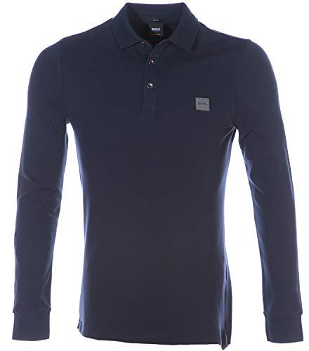 Hugo Boss Passerby Long Sleeve Polo Shirt in Navy