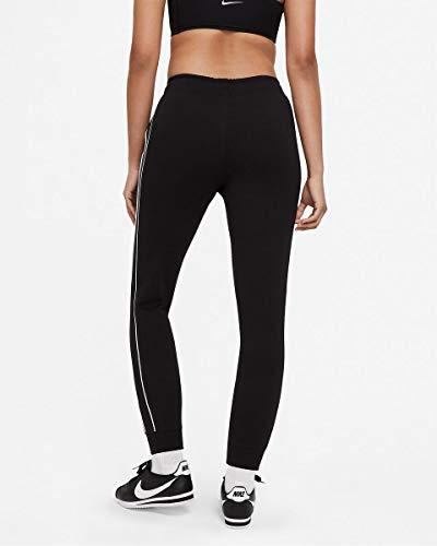 NIKE W NSW Jogger MLNM FLC MR Pantalones de compresin, Black/(White), XL para Mujer