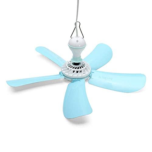Kleiner Lake Green Energiesparventilator,Breeze Haushalt Elektrischer Moskitokiller Mini Deckenlüfter,mit a/Blau / 41X17cm