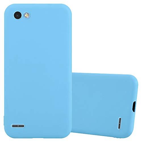 Cadorabo Custodia per LG Q6 / G6 Mini in Candy Blu - Morbida Cover Protettiva Sottile di Silicone TPU con Bordo Protezione - Ultra Slim Case Antiurto Gel Back Bumper Guscio