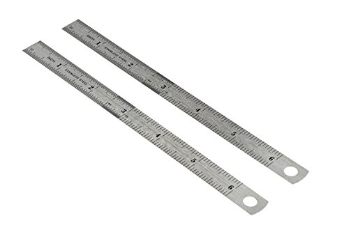 """SE 6"""" Double-Sided Rulers in Both SAE/Metric (2-Pack) - 9266SRP"""
