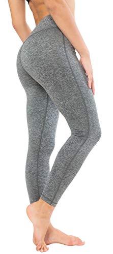Queenie Ke Women Power Stretch Plus Size High Waist Yoga Pants Running Tights Size XL Color Space Dye Grey
