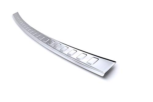 tuning-art BL948 Ladekantenschutz mit Abkantung Modellspezifisch, Farbe:Silber
