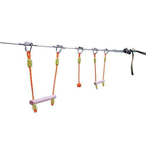 Find Cheap HI SUYI Ninja Slackline Monkey Bars Kit-33ft Kids Climbing Rope Equipment with Hanging Ob...
