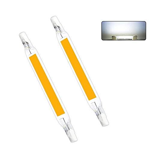 R7S Bombilla LED 78mm Bombilla halógena lineal de 5W 2PCS Bombillas LED COB Bombillas R7S Foco de doble extremo J118 Proyector para Garden Park Garage Landscape (5W COLD WHITE)