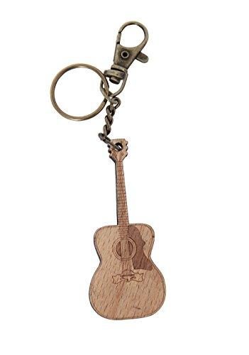 GEWA 978916 Unisex-Anhänger Schlüsselanhänger, Motiv: Gitarre Holz