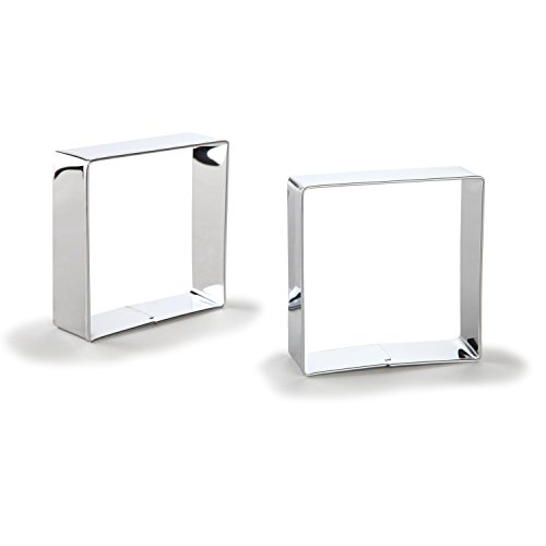 Bakerpan Stainless Steel Cookie Cutter Square Set of 2