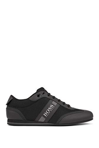 BOSS Herren Lighter Lowp Lowtop Sneakers aus Mesh und gummiertem Stoff