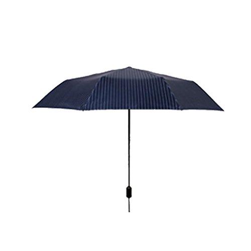 XMGJ Ombrelloni Ombrello da Viaggio Compatto - Ombrellone Portatile Ombrellone Pieghevole Ombrello da Viaggio Anti-UV ad Asciugatura Rapida, Colore Bianco Anti-UV (Colore : Blu)