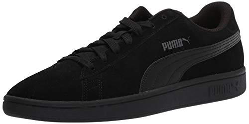 PUMA womens Smash V2 Sneaker, Puma Black-dark Shadow, 8 US