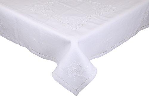 Betz Nappe carrée surnappe Vintage Taille 85 x 85 cm Couleur: Blanc